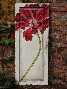 Door with flower.