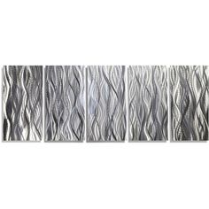 25 Off Large Modern Abstract Metal Wall Art Sculpture in Silver... (240 AUD) ❤ liked on Polyvore featuring home, home decor, wall art, grey, home & living, home décor, wall décor, wall hangings, carving sculpture and metal panels