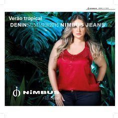 Moda plus size fashion e tropical #nimbus jeans #verãotropicalnimbus