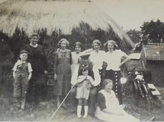 Vintage French Photo - Family with a Haystack by ChicEtChoc on Etsy