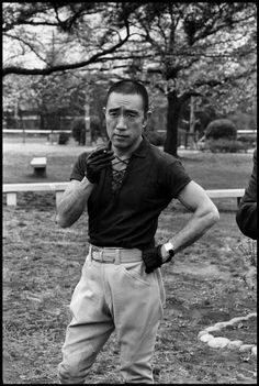 Yukio Mishima shortly before his death by ritual, 1970