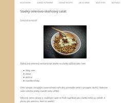 sladký nekalorický celerový salat