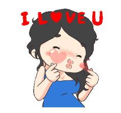 LINE Creators' Stickers - Alshabella 2 Example with GIF Animation I Love U Gif, My Love, Hug Gif, Line Sticker, Loving U, Funny Faces, Good Morning, The Creator, Disney Characters