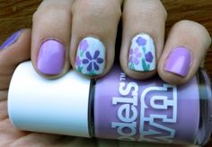 Spring Flowers Nail Art from Just Spotted The Lizard #spring #nailart #flowers