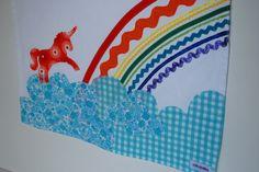 Unicorn rainbow applique!
