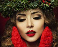 christmas makeup :)