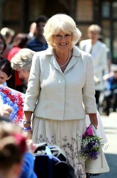 Camilla, Duchess of Cornwall meets pupils as she arrives at the Chailey Heritage Foundation in North Chailey, East Sussex, to mark the centenary of the school chapel and open the new state-of-the-art Life Skills Centre for young people aged 19-25 on 5 June 2013