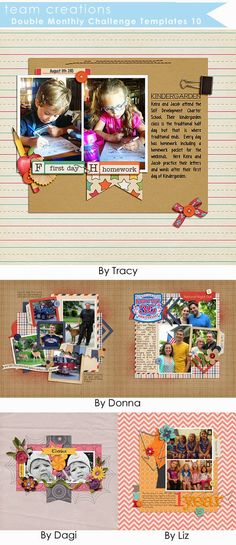 Made with Monthly Double Challenge Templates 10 & Weekly Project Templates 11 - Scrapping with Liz