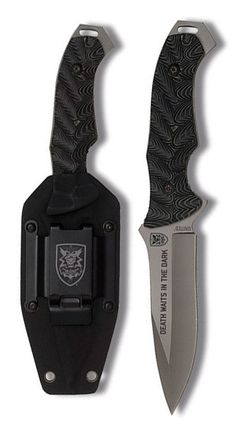 United Cutlery UC2804 S.O.A. Titanium Fixed Assault Knife Blade with Micarta Handle and Kydex Sheath