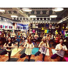 Theta shopping and yoga sisterhood event at Lululemon