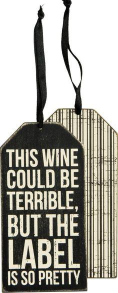 Pretty Label Bottle Tag