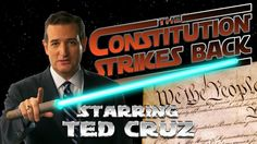 THE CONSTITUTION STRIKES BACK - starring Ted Cruz. This is great! they put RINOs guarding the president!!