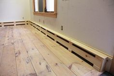 The covers for the hydronic heat in this studio were fabricated and installed in less than five hours.