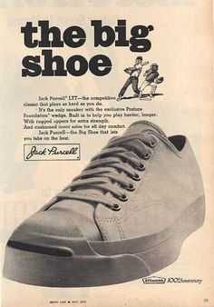 Jack Purcell's Big Shoe Vintage Sneakers, Retro Sneakers, Jeans And Sneakers, Classic Sneakers, Vintage Shoes, Jeans And Boots, Vintage Outfits, Vintage Advertisements, Vintage Ads