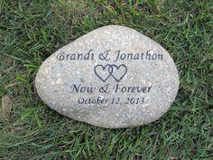 Custom Oathing Wedding Stone Gift 10-11 Inch Oath Stone Wedding Gift Engagement Gift Idea #bridal_gift #celtic_wedding #engagement_gift