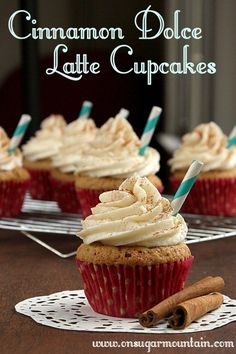 Cinnamon Dolce Latte Cupcakes - On Sugar Mountain