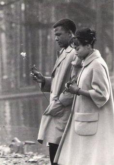 Sidney Poitier & Diahann Carroll in Paris Blues.
