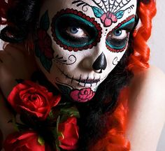 day of the dead wedding ideas | day-of-the-dead-make-up-makeup-dia-de-los-muertos-halloween-spanish ...