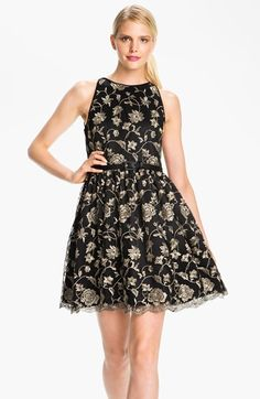 Adrianna Papell Embroidered Tulle Fit & Flare Dress available at #Nordstrom $218