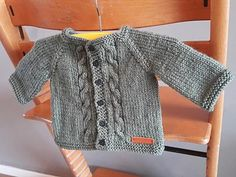 Ravelry: MAX Baby Cardigan Jacket with Cabled Front pattern by marianna mel