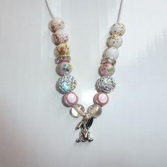 Beaded bunny (rabbit) necklace £8.00