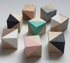 Scandi nursery decor wood blocks pastels wooden toys geometric decor home Handmade Home Decor, Handmade Wooden, Handmade Toys, Baby Decor, Nursery Decor, Deco Baby Shower, Bois Diy, Pastel Decor, Geometric Decor