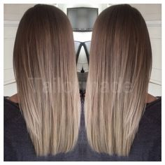 Golden Blonde Balayage for Straight Hair - Honey Blonde Hair Inspiration - The Trending Hairstyle Balayage Hair Blonde, Brunette Hair, Brunette Ombre, Hair Inspo, Hair Inspiration, Light Brown Hair, Dark Brown, Ombre Hair Color, Hair Highlights