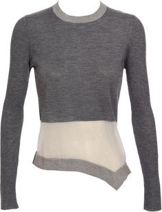 Marni Knit Sweater with Sheer Band in White