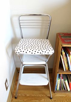 My Vintage Cosco Step Stool I Repainted And Reupholstered