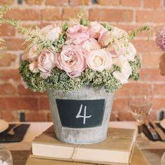Emmaline Bride - Handmade Wedding Blog Spotted: an easy rustic wedding centerpiece you can DIY! All… Handmade Wedding Blog