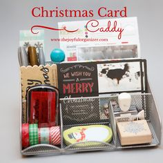 Christmas Card Caddy