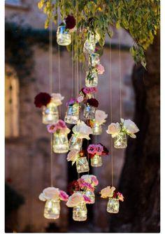Hem çiçekli hem aydınlatmalı
