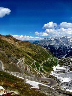 This is Passo dello Stelvio, taken by Jen, a guide with @Trek Travel.  Gorgeous!  If you ever have a chance to take a Trek Travel trip, grab it.  They really take good care of their guests.