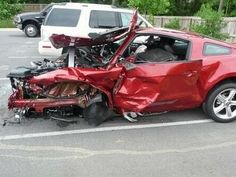 muscle car wrecks images | MUSTANG WORST CRASHES
