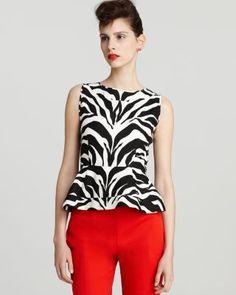 Kate Spade New York Zebra Top