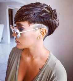 Dope cut on moniquejacquelinee styled by hairbyjahina voiceofhair pixiecut undercut shades atlhair