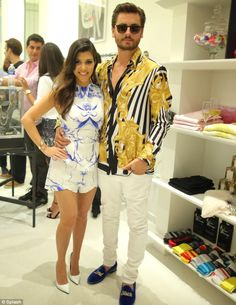 Good night? The next day Scott Disick and his long-term partner Kourtney Kardashian looked fabulous at the opening of Dash Miami
