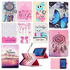 "Universal PU Leather Case Cover Flip Wallet Stand for 7"" 8"" Android Tablet PC"