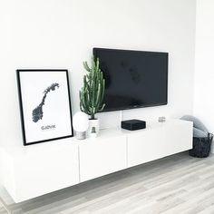 IKEA - BESTA Wall mounted TV unit with door for sale on Trade Me, New Zealand's auction and classifieds website Living Room Tv Unit, New Living Room, Home And Living, Living Room Decor, Tv On Wall Ideas Living Room, Wall Mounted Tv Unit, Mounted Tv Decor, Mounting Tv On Wall, Ikea Tv Unit