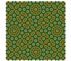 Larger square from the fourth simple nonperiodic tiling using pattern blocks. (Original)