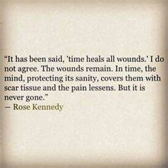 'Time heals all wounds.'