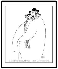 """Orson Welles:  Hand signed by Al Hirschfeld  Limited-Edition Lithograph  Edition Size: 100.  22"""" x 15"""""""