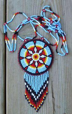 american native bead work. $67.00, via Etsy.