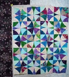 Winding Ways Quilt idea, maybe from jeweled batik fat quarters