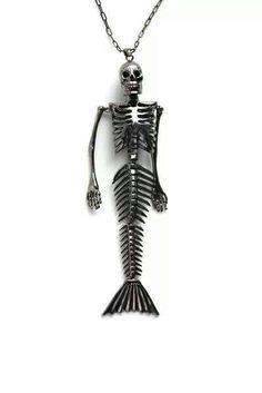 Skeletal Mermaid Remains necklace