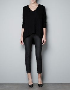SWEATER WITH ASYMMETRIC HEM - Knitwear - Woman - ZARA United States