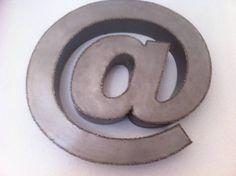 Décoration Arobase métal tôle noire /tole blanche soudure points par points inox.. (de FER et REFER)