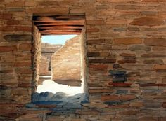 """""""Cheto Window"""" is part of Eric Dunn's """"Southwest Series"""" and features the abandoned pueblos at Chaco Culture National Historic Park. Image courtesy of Eric Dunn.)"""