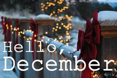 December. Can't wait for Christmas :)