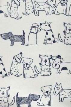 Doodle Drawings, Animal Drawings, Doodle Art, Cute Drawings, Dog Illustration, Illustrations, Animal Doodles, Art Plastique, Dog Art
